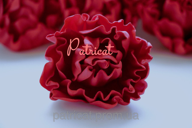 Купить или сделать пион красный из иранского фоамирана