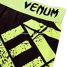 Спортивные шорты Venum Power Shorts Black Yellow, фото 2