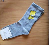 """Модные молодежные носки  """"Krezy Socks"""" размер 35-41 Симпсоны"""