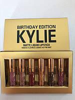 Набор из 6 матовых помад Kylie Birthday Edition 645471883, КОД: 157477