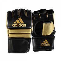 Перчатки для ММА Adidas PU кожа (ADISCSG042, черно-золотые)
