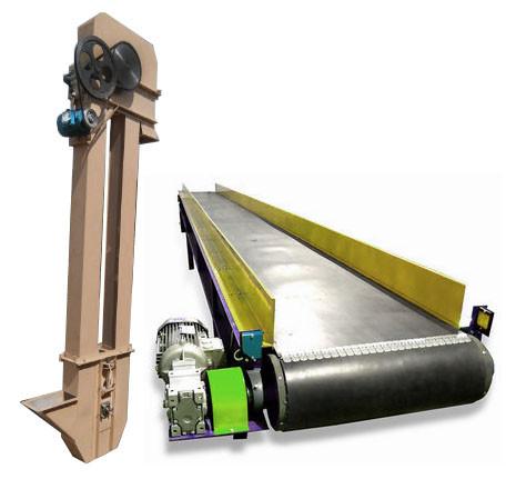 Оборудование для транспортировки сырья в горизонтальном, наклонном и вертикальном направлениях