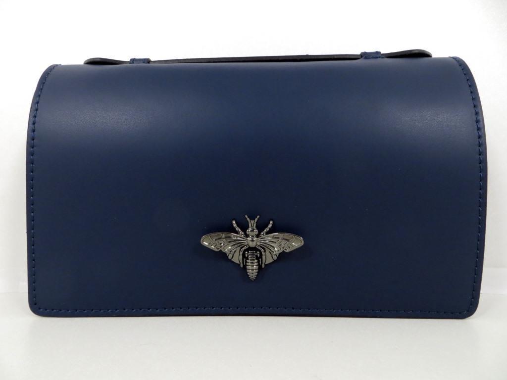 Жіноча сумочка - клатч . Італія 100% натуральна шкіра . Синя