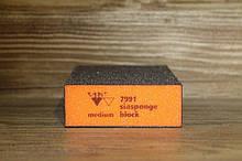 Абразивная губка 4-х сторонняя, Siasponge Block, P60, 1 шт., SIA Abrasives