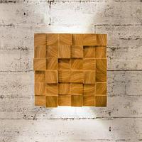 Деревянный настенный светильник Vela Blocks (6Вт, 18 см)