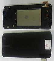 Дисплей модуль для LG K350E K8 в зборі з тачскріном, чорний, з рамкою
