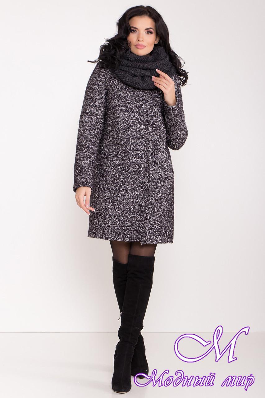 Женское зимнее шерстяное пальто с хомутом (р. S, M, L) арт. Ф-85-08/44807