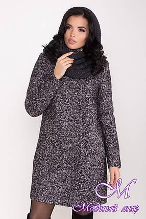 Женское зимнее шерстяное пальто с хомутом (р. S, M, L) арт. Ф-85-08/44807, фото 2