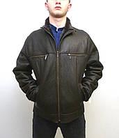 Мужская дубленка Eleganza модель  JEANS размер M, коричневый
