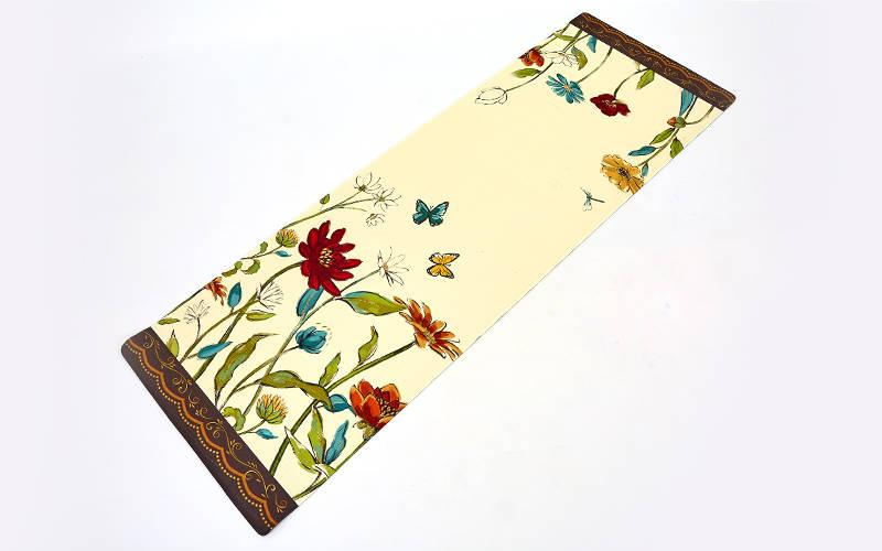 Килимок для йоги Джутовий (Yoga mat) двошаровий 3мм Record FI-7157-2