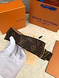 Пояс, ремінь Луї Вітон канва Monogram 3 см двосторонній, шкіряна репліка, фото 4