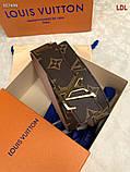 Пояс, ремінь Луї Вітон канва Monogram 3 см двосторонній, шкіряна репліка, фото 5