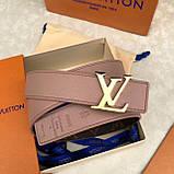 Пояс, ремінь Луї Вітон канва Monogram 3 см двосторонній, шкіряна репліка, фото 2