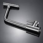 Однорычажный смеситель для кухни из нержавеющей стали sus304 c поворотным изливом матовый Imperial 31-107-32, фото 9