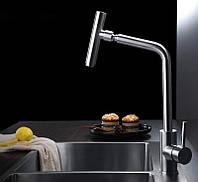 Однорычажный смеситель для кухни из нержавеющей стали sus304 c поворотным изливом матовый Imperial 31-107-32