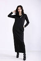 ❤/ Женское черное платье макси 01345 / Размер 42-72 / Батал