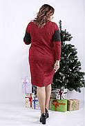 ❤/ Женское малиновое платье из ангоры 01343 / Размер 42-72 / Батал, фото 4
