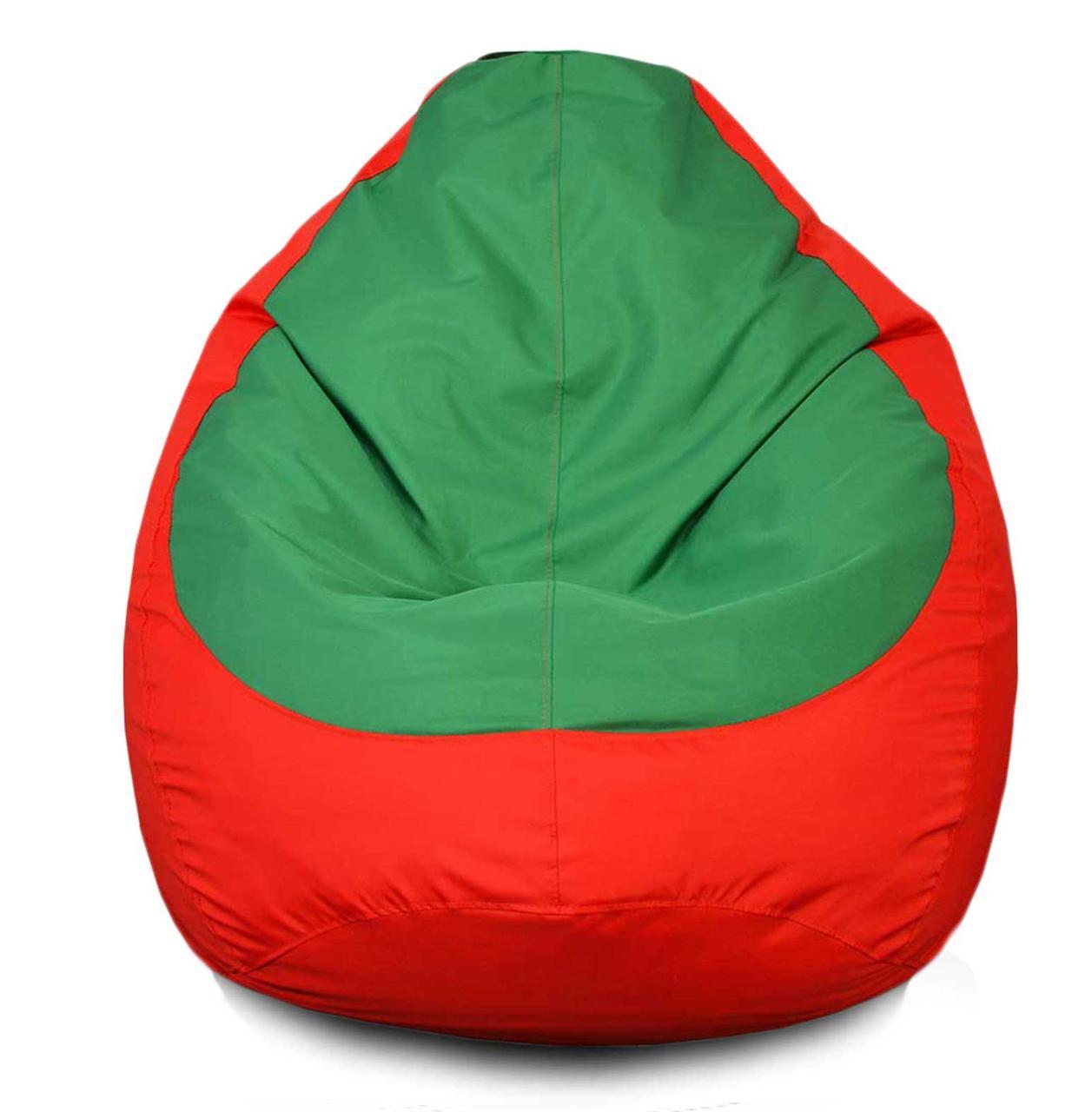Кресло мешок груша Оксфорд Зеленый/Красный