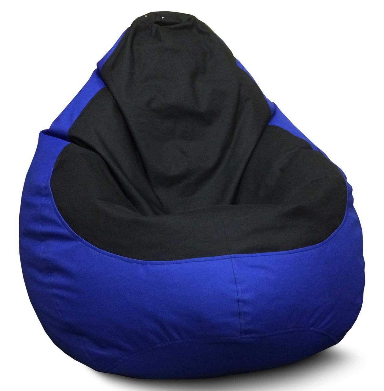 Кресло мешок груша Оксфорд Черный/Синий