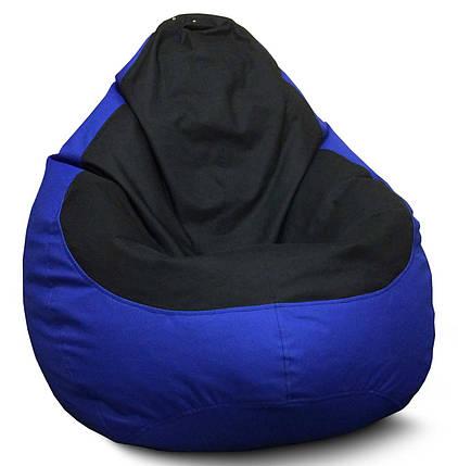 Кресло мешок груша Оксфорд Черный/Синий, фото 2