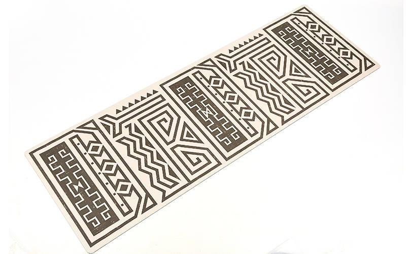 Килимок для йоги Замшевий каучуковий двошаровий 3мм Record FI-5662-43 (розмір 1,83мх0,61мх3мм, сірий-чорний)