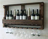 Деревянная винная полка, фото 1