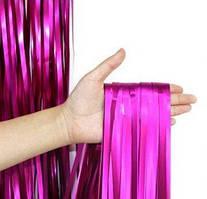 Шторка матовая фольгированная для фотозоны, Цвет:Малиновый Сатин. Размер: 2м*1м.