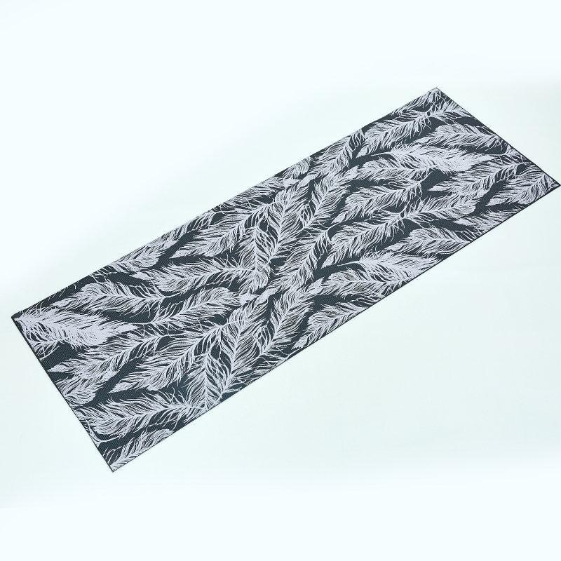 Килимок для йоги та фітнесу PVC двошаровий