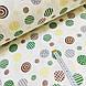 Фланелевая ткань кружочки зеленые и желтые на белом (шир. 2,4 м) ОТРЕЗ ( 0,35*2,4), фото 2