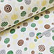 Фланелевая ткань кружочки зеленые и желтые на белом (шир. 2,4 м) ОТРЕЗ ( 0,35*2,4), фото 3