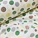 Фланелевая ткань кружочки зеленые и желтые на белом (шир. 2,4 м) ОТРЕЗ ( 0,35*2,4), фото 4