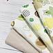 Фланелевая ткань кружочки зеленые и желтые на белом (шир. 2,4 м) ОТРЕЗ ( 0,35*2,4), фото 6