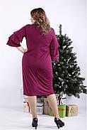 ❤/ Женское сливовое платье из масла 01342 / Размер 42-72 / Батал, фото 4