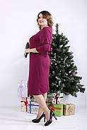 ❤/ Женское сливовое платье из масла 01342 / Размер 42-72 / Батал, фото 2
