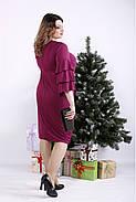 ❤/ Женское сливовое платье из масла 01342 / Размер 42-72 / Батал, фото 3