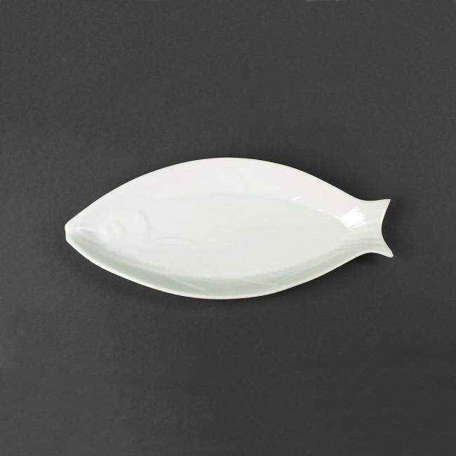 Блюдо фарфоровое овальное 305х150мм (селедочница)