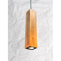 Деревянный подвесной светильник Vela Сube (7 Вт, 35 см)