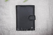 Портмоне мужское кожаное чёрное, натуральная кожа, фото 2