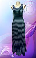 Платье трикотажное в полоску