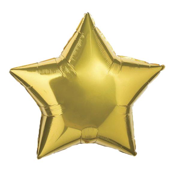 Фольгированный шар 10' Китай Звезда золото, 25 см