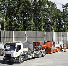 Вивезення великогабаритних відходів контейнерами 7 - 30 куб.м. / Вывоз крупногабаритных отходов