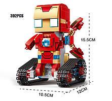 Конструктор Супер Герои Iron Man на Радио Управлении Square Headed (Аналог Lego) 392 деталей