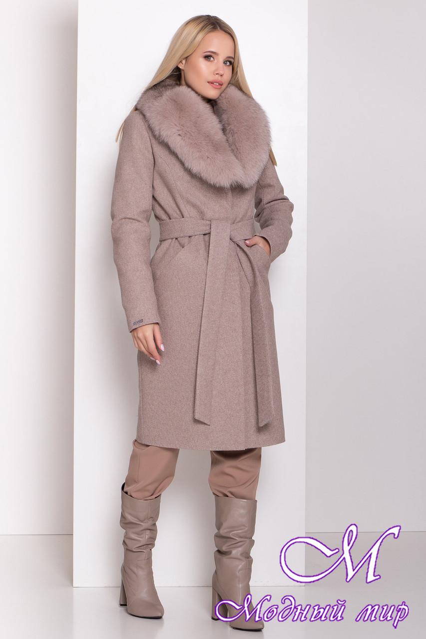 Женское зимнее пальто с красивым мехом (р. S, M, L) арт. М-83-61/44571