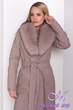 Женское зимнее пальто с красивым мехом (р. S, M, L) арт. М-83-61/44571, фото 2