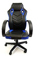Крісло офісне комп'ютерне 7F RACER EVO, синє