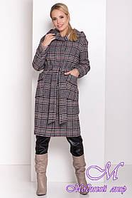 Женское зимнее пальто в клетку (р. S, M, L) арт. А-82-76/44724