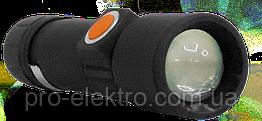 Фонарик RIGHT HAUSEN RIDDLE светодиодный на аккумуляторе 1200mAh чёрный HN-312082