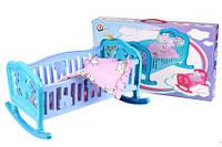 Кроватка для кукол с постелькой Техн.4524