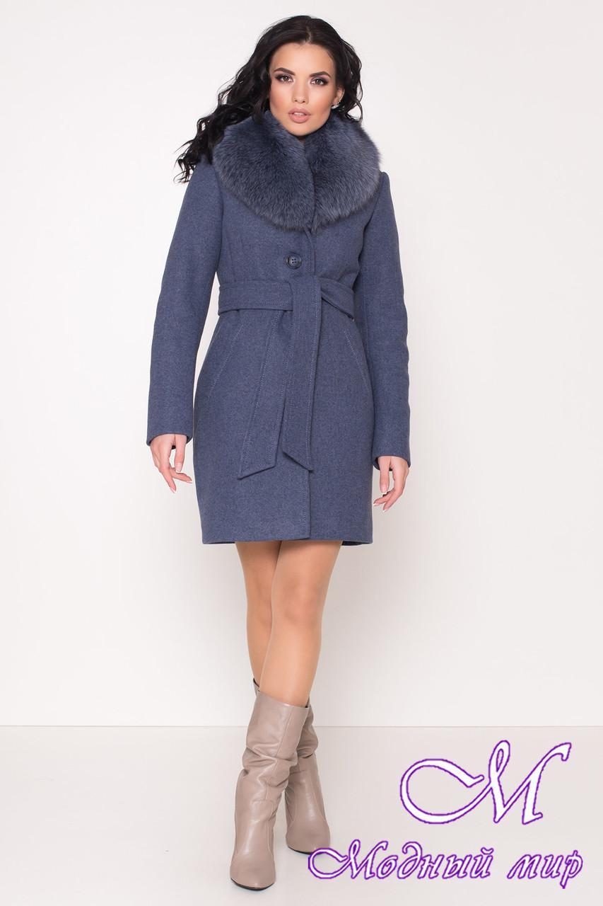 Женское теплое зимнее пальто с мехом (р. S, М, L) арт. К-84-65/44760