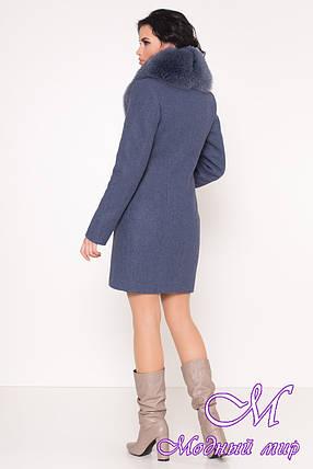 Женское теплое зимнее пальто с мехом (р. S, М, L) арт. К-84-65/44760, фото 2